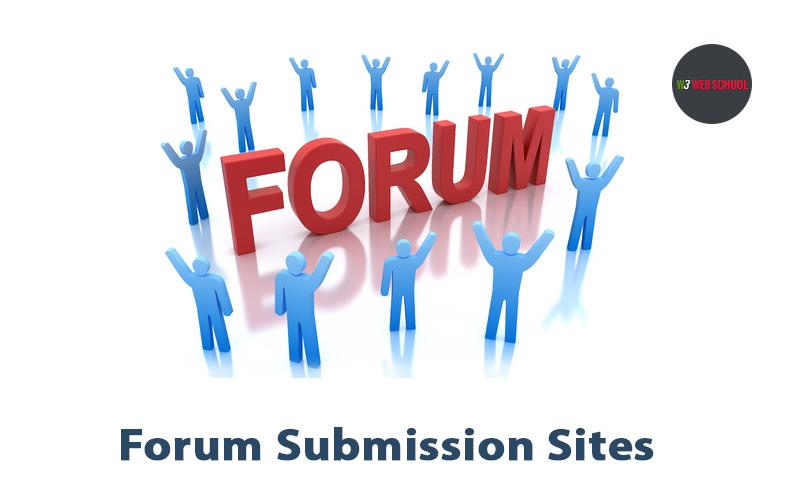Forum Submission Sites